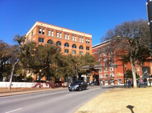 The Book Depository from which JFK was shot when in Dallas